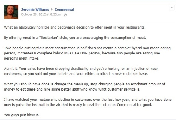 Jeromie Williams Condemns Consumption of Meat